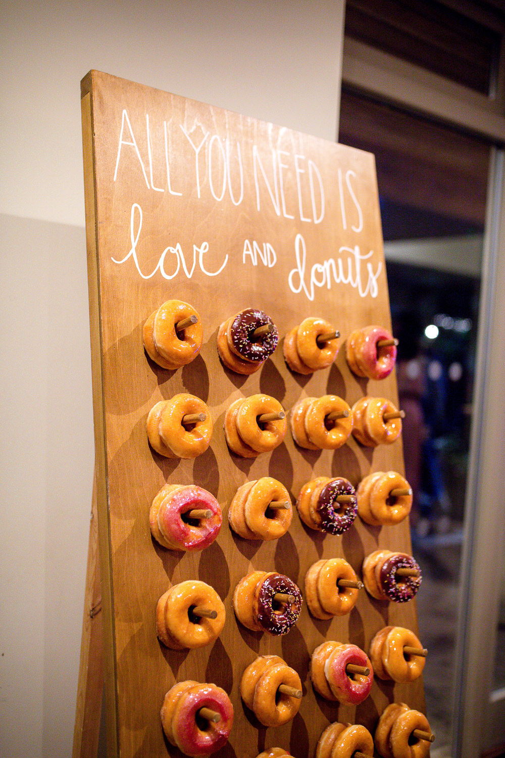 Donut Doughnut Stand Station Table Peg Board Wall Autumnal Boho Wedding Ivory White Photography