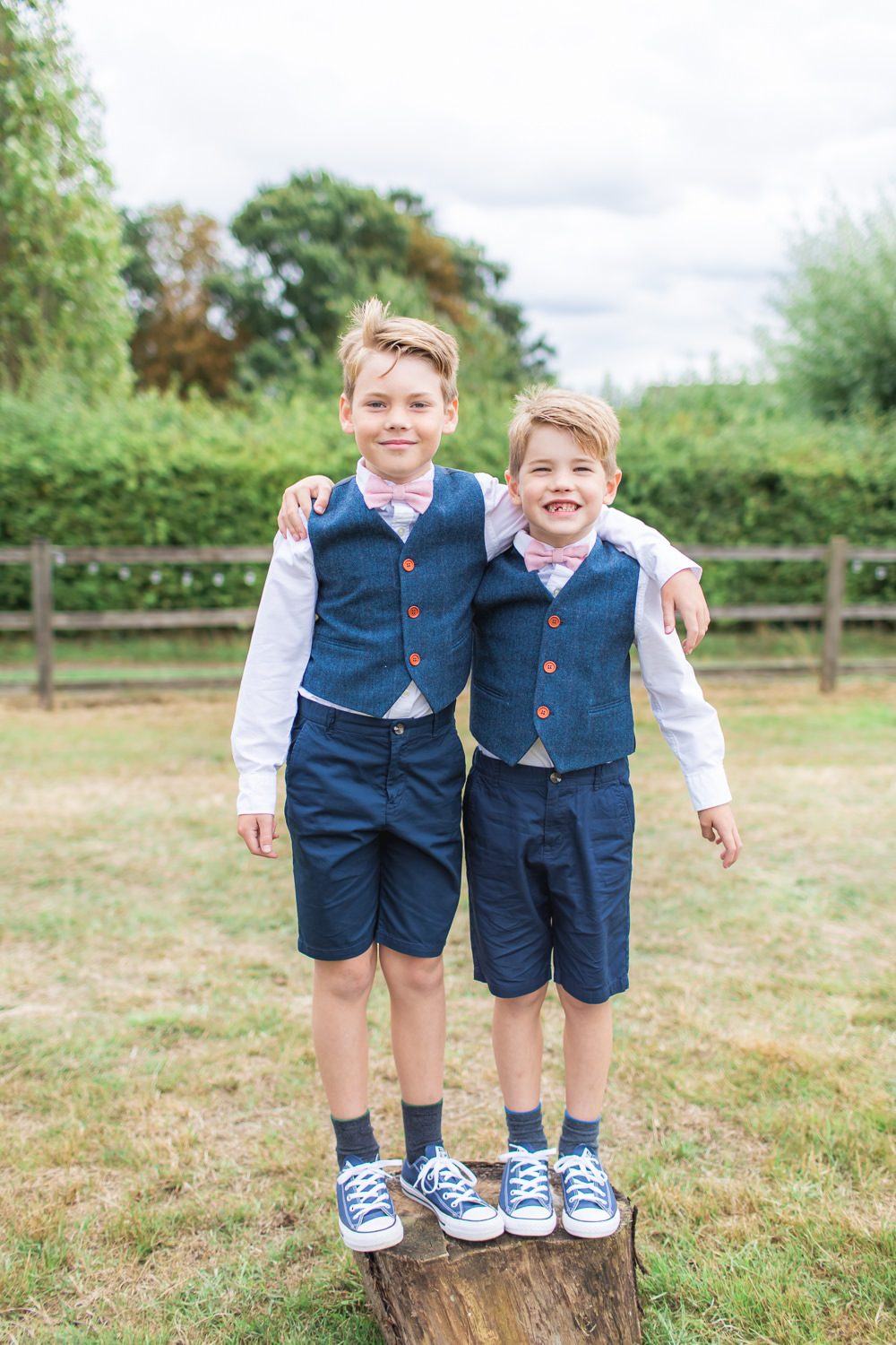 Page Boy Wool Tweed Blue Waistcoat Bow Tie Bedfordshire Tipi Wedding Natalie Stevenson Photography
