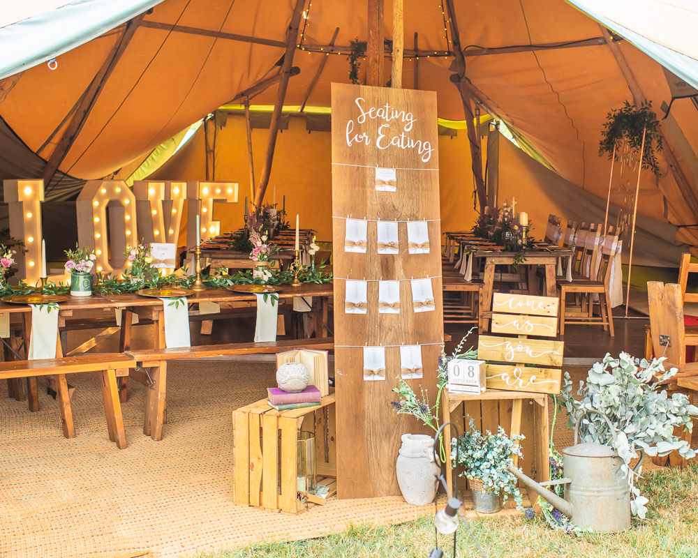 Love Light Letters Seating Chart Table Plan Wooden Vintage Crates Bedfordshire Tipi Wedding Natalie Stevenson Photography