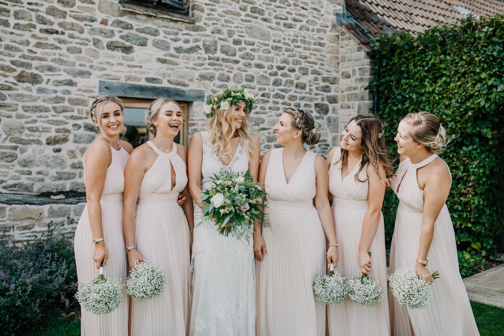 Long Pink Maxi Bridesmaids Bridesmaid Dress Dresses Bohemian Carefree Countryside Wedding Lush Imaging by Naomi