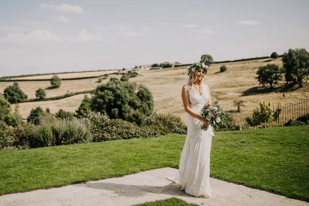 Bride Bridal Dress Gown Boho Lace Claire Pettibone Gardenia Bohemian Carefree Countryside Wedding Lush Imaging by Naomi