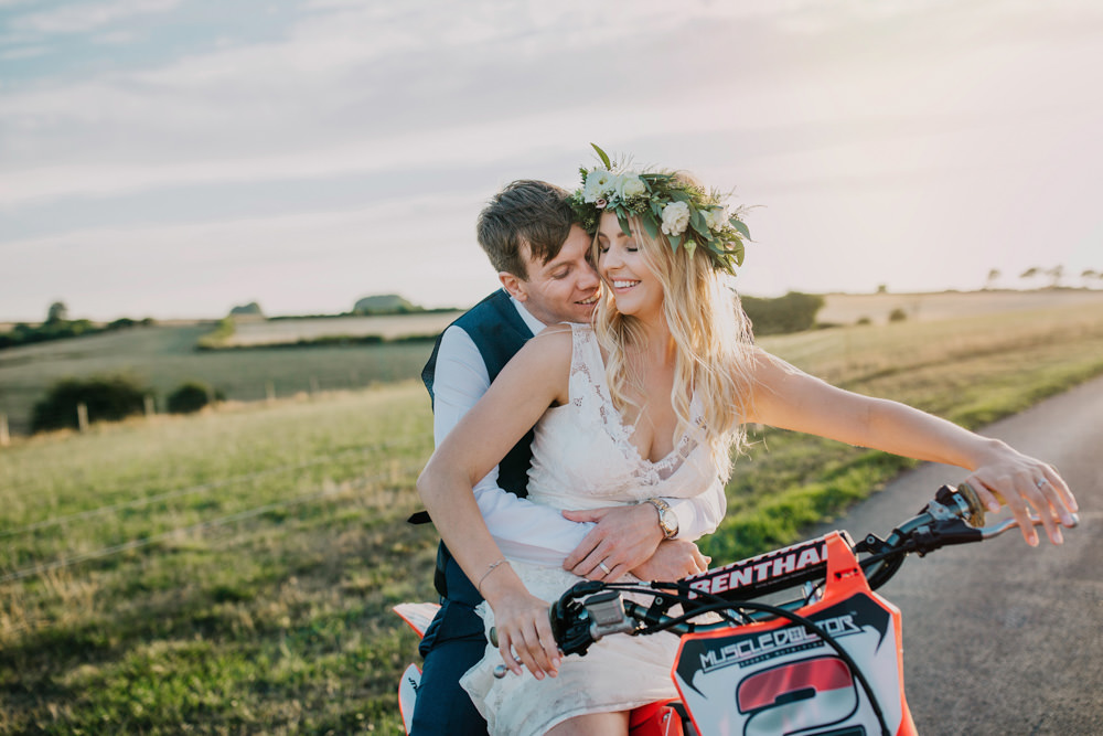 Motocross Motorbike Transport Bohemian Carefree Countryside Wedding Lush Imaging by Naomi