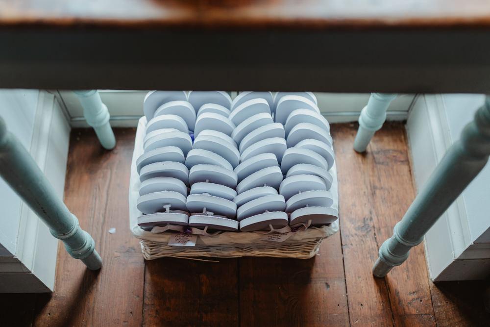 Flip Flops Basket Hamper Chilli Barn Wedding Stevie Jay Photography