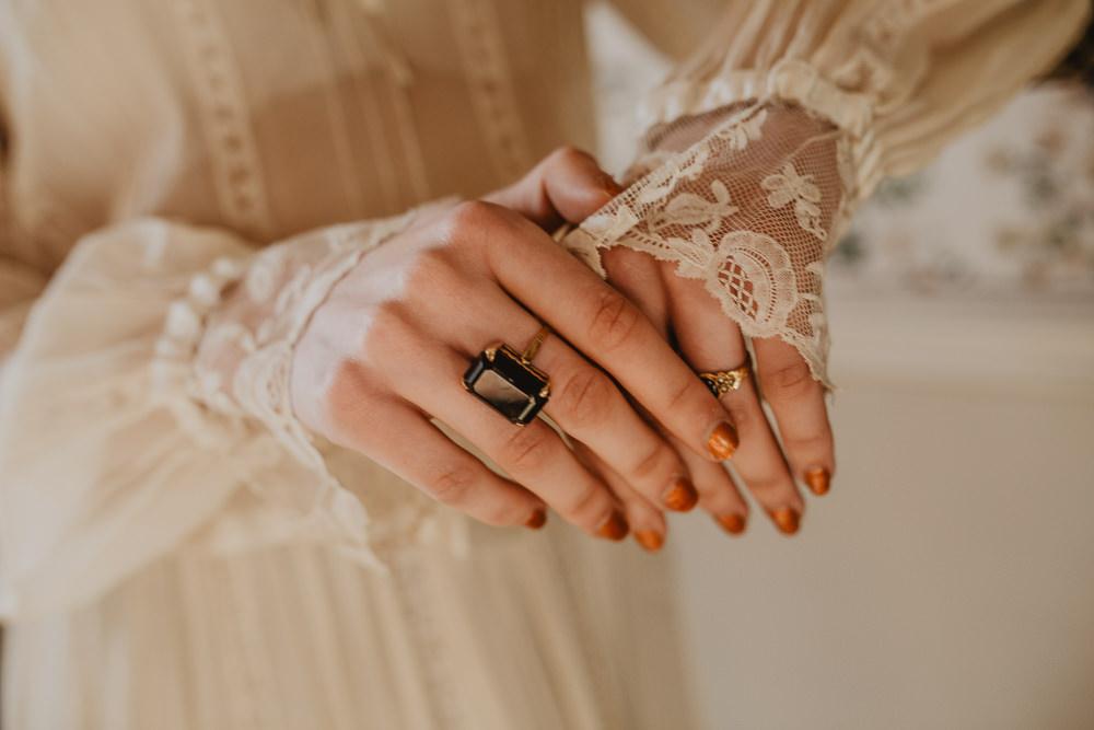 Bride Bridal Rings Edwardian Wedding Ideas Camilla Andrea Photography