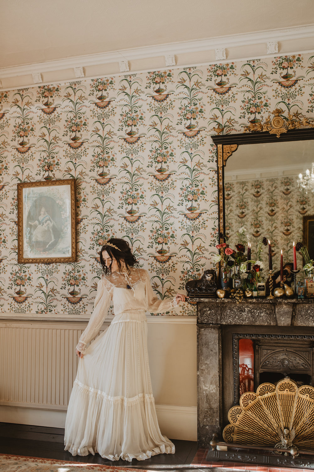 Dress Gown Bride Bridal Sleeves Vintage Edwardian Wedding Ideas Camilla Andrea Photography