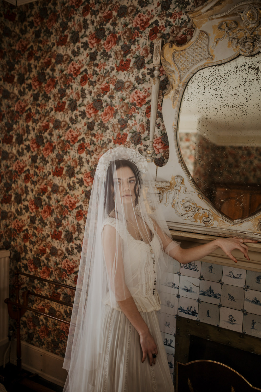 Veil Dress Gown Bride Bridal Vintage Edwardian Wedding Ideas Camilla Andrea Photography