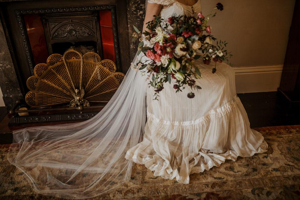 Dress Gown Bride Bridal Vintage Veil Edwardian Wedding Ideas Camilla Andrea Photography