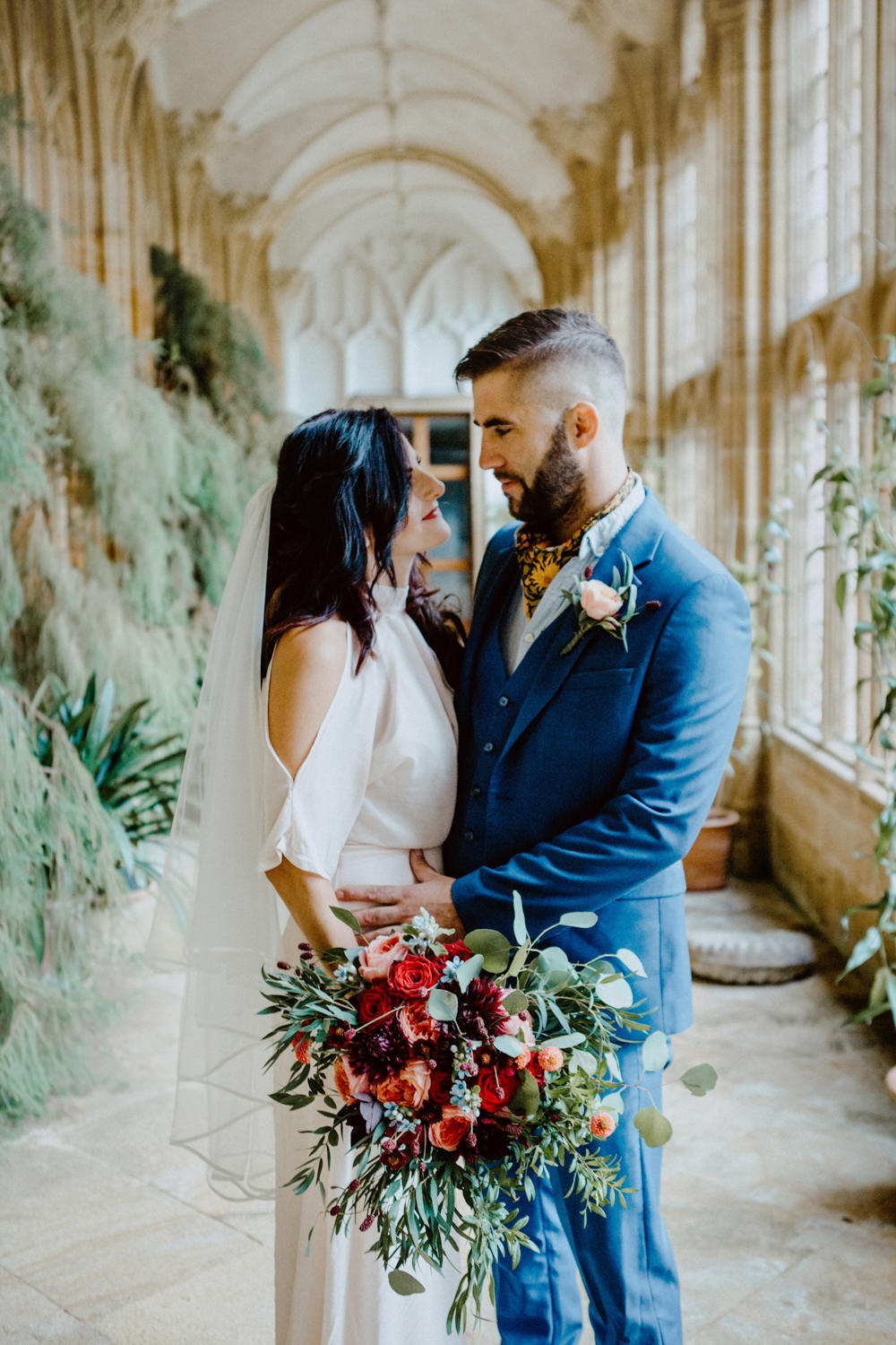 Groom Suit Blue Scarf Tie Cravat Ethereal Romantic Wedding Ideas Katherine Newman Photography