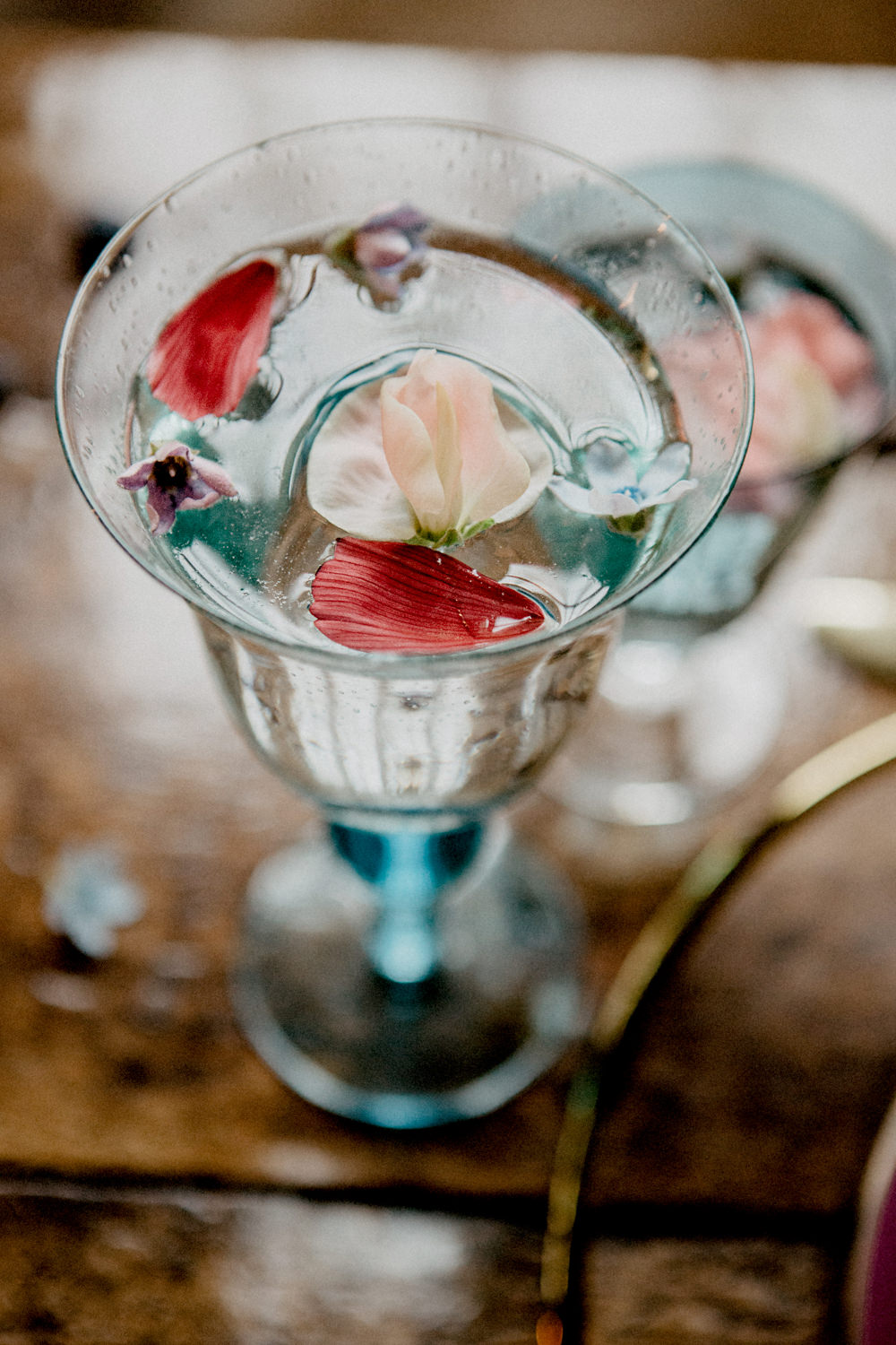 Cocktail Petals Ethereal Romantic Wedding Ideas Katherine Newman Photography