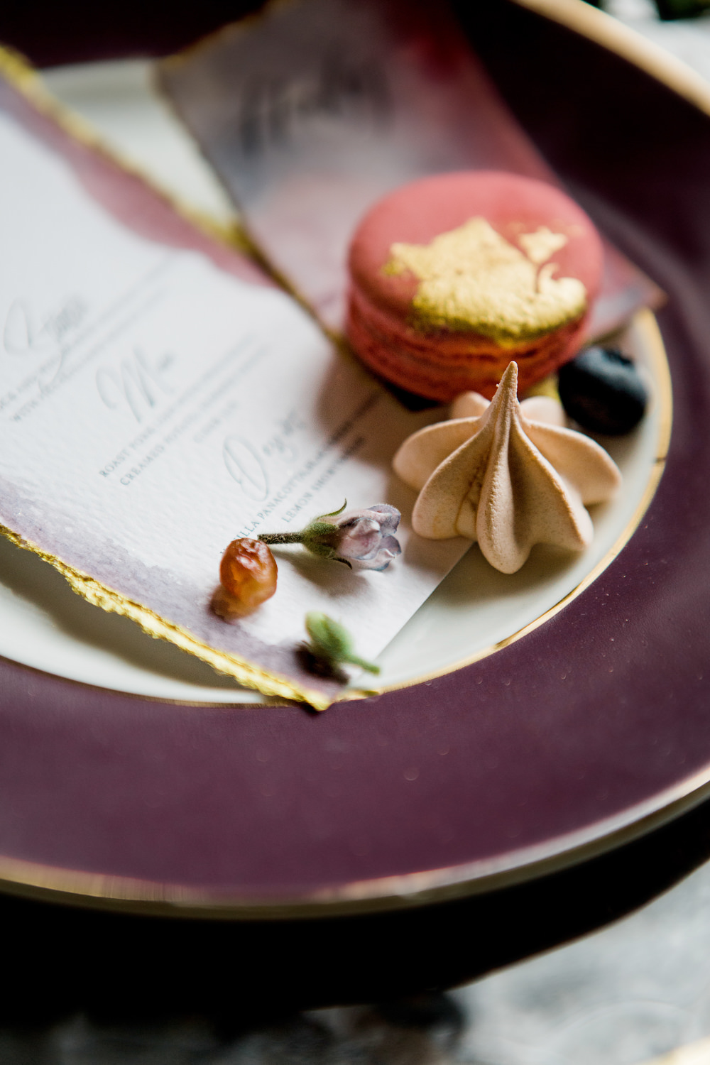 Macaron Favour Ethereal Romantic Wedding Ideas Katherine Newman Photography
