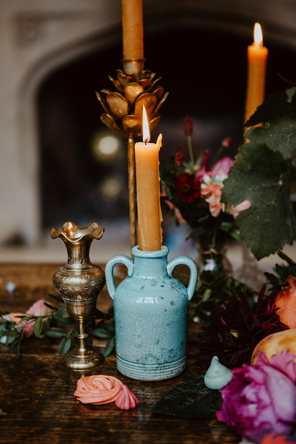 Candles Table Decor Ethereal Romantic Wedding Ideas Katherine Newman Photography