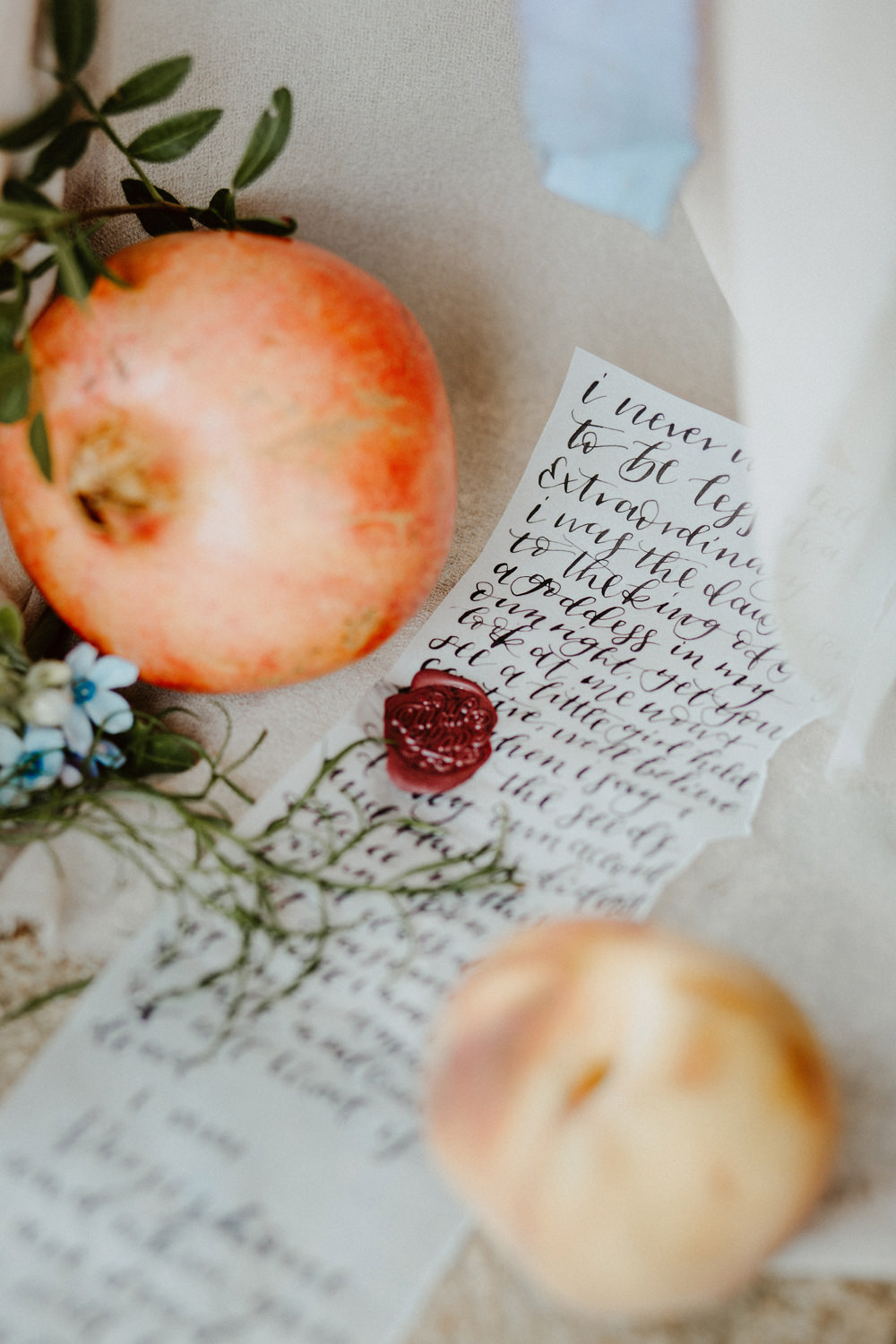 Calligraphy Letter Ethereal Romantic Wedding Ideas Katherine Newman Photography