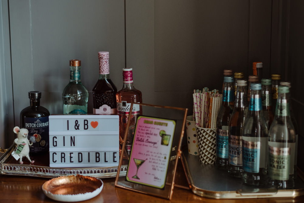 Gin Bar Felin Newydd House Wedding Christopherian.co.uk
