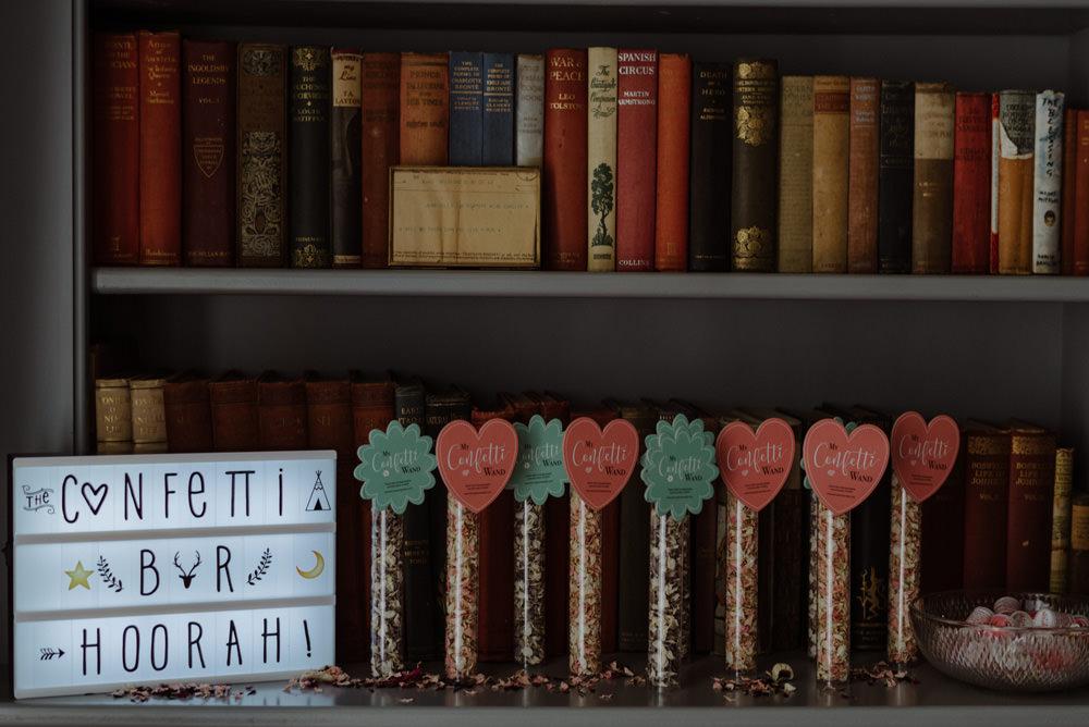 Confetti Bar Light Box Felin Newydd House Wedding Christopherian.co.uk