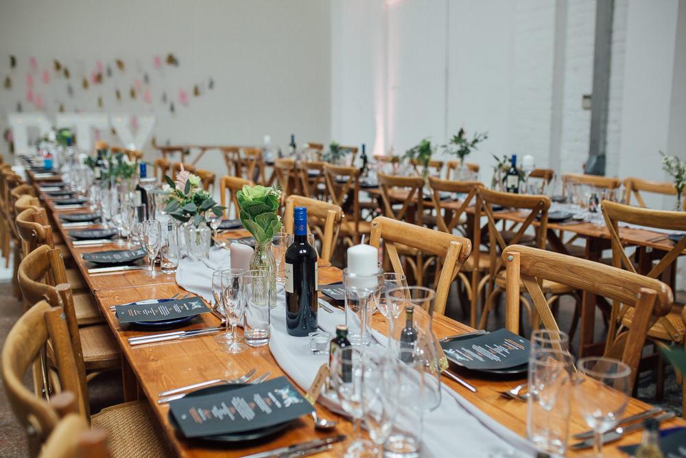 Decor Table Silk Runner Grey Foral Flowers Fivefourstudios Wedding Ellie Grace Photography