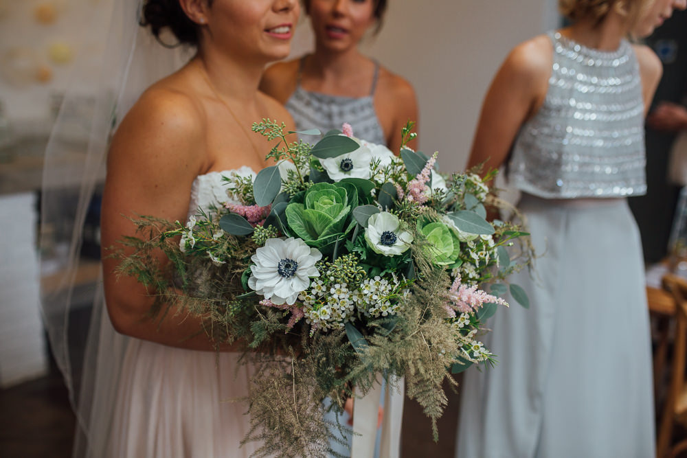 Bouquet Flowers Bride Bridal Anemone Greenery Foliage Fivefourstudios Wedding Ellie Grace Photography