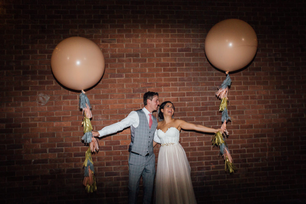 Giant Balloons Tassels Fivefourstudios Wedding Ellie Grace Photography