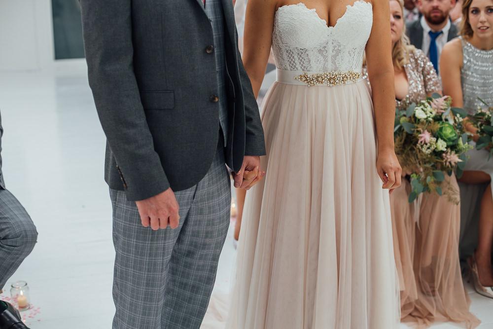 Dress Gown Bride Bridal Strapless Sweetheart Martina Liana Skirt Top Veil Fivefourstudios Wedding Ellie Grace Photography