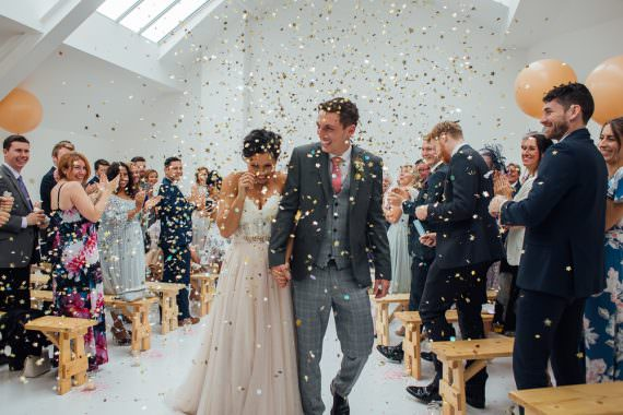 Confetti Glitter Fivefourstudios Wedding Ellie Grace Photography