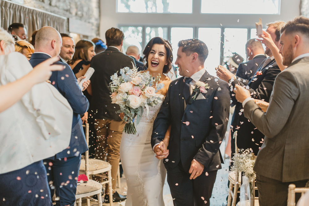 Confetti Throw GG's Yard Wedding Amy Lou Photography