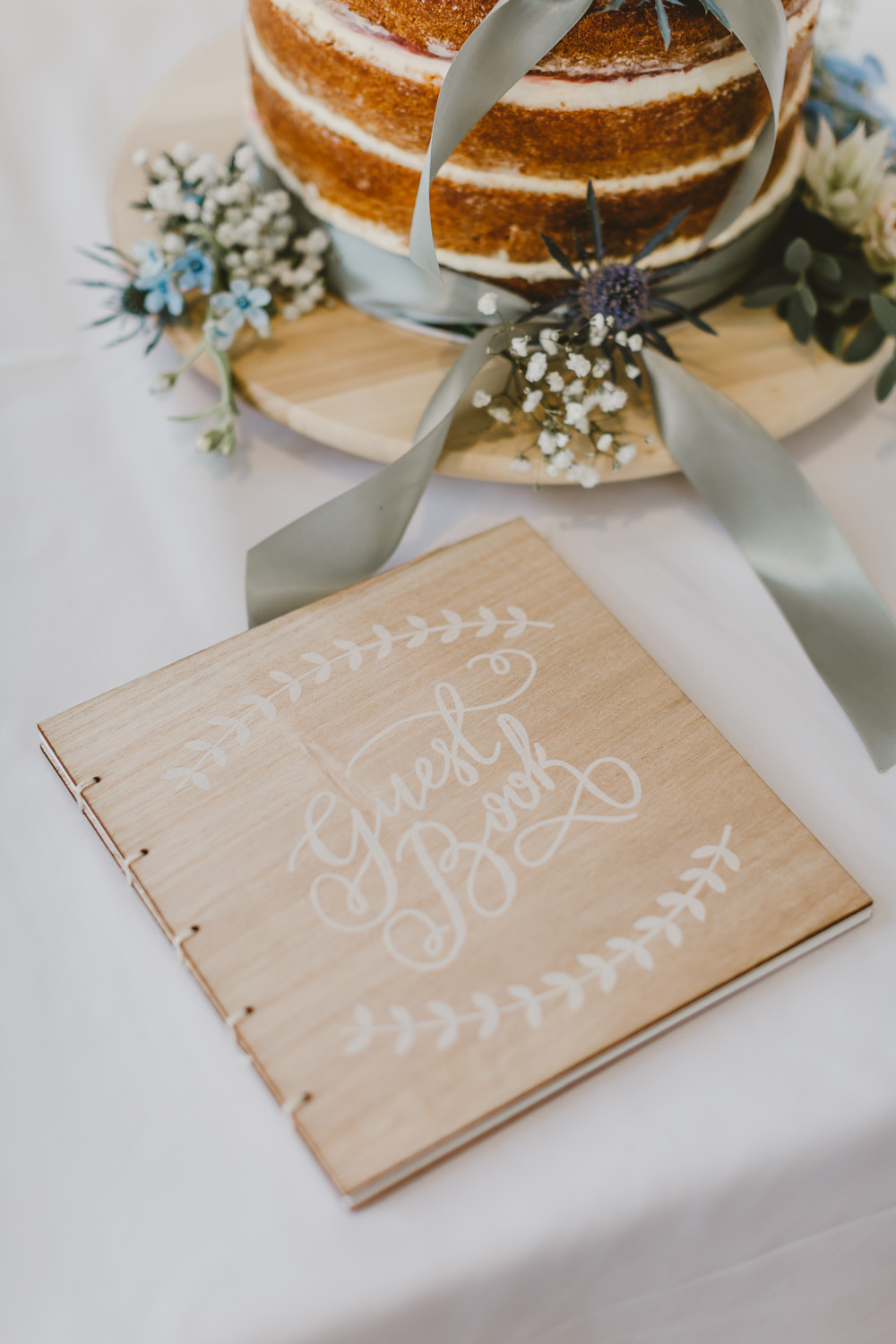Wooden Guest Book Calligraphy GG's Yard Wedding Amy Lou Photography
