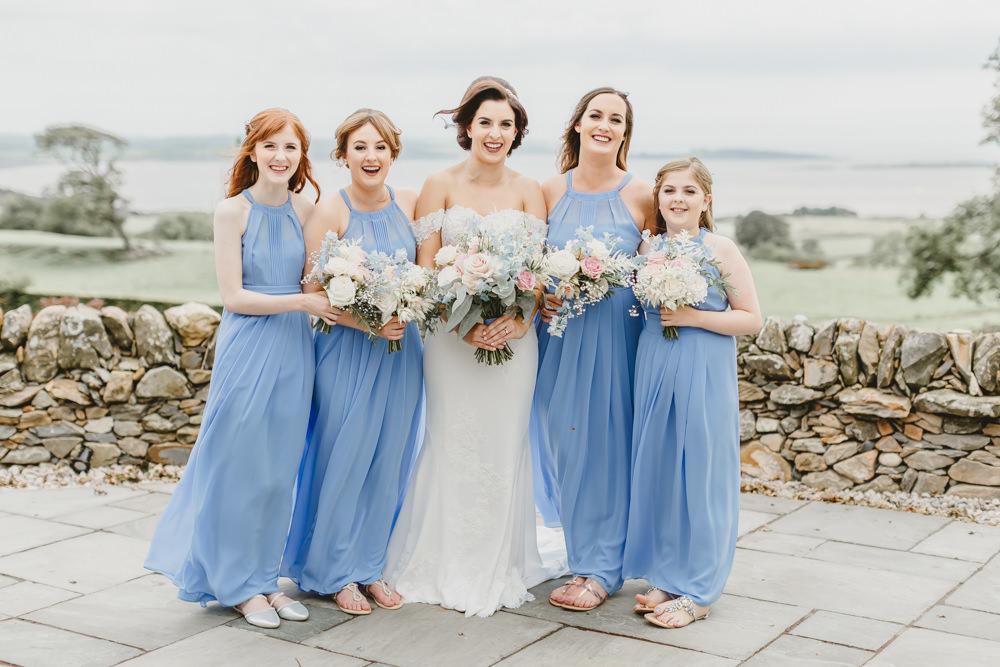 Blue Bridesmaids Bridesmaid Dress Dresses Halterneck GG's Yard Wedding Amy Lou Photography