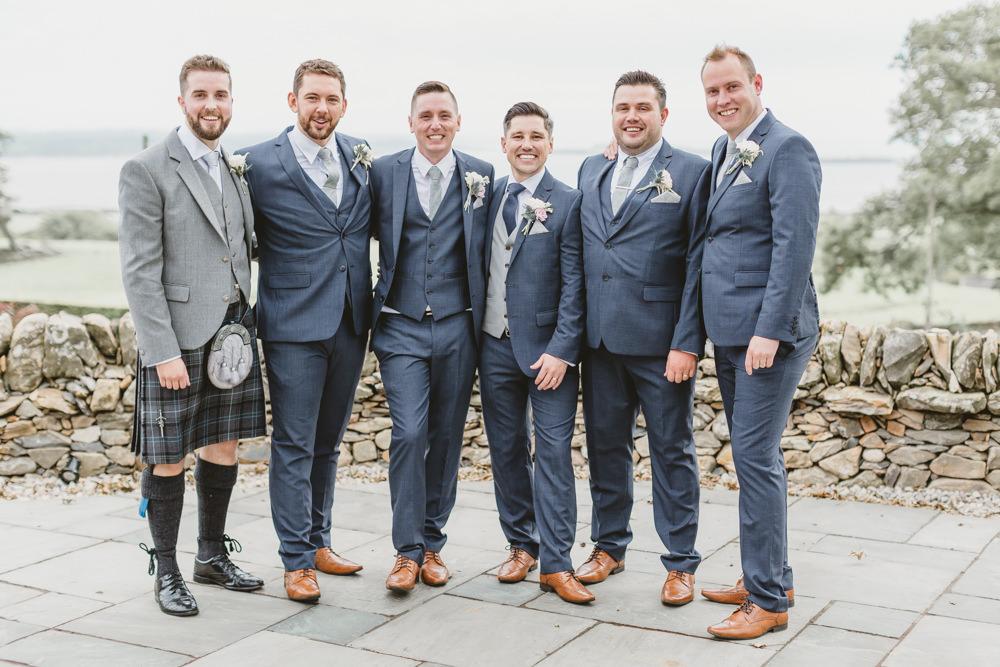 Groom Suit Groomsmen Navy Tie Waistcoat GG's Yard Wedding Amy Lou Photography