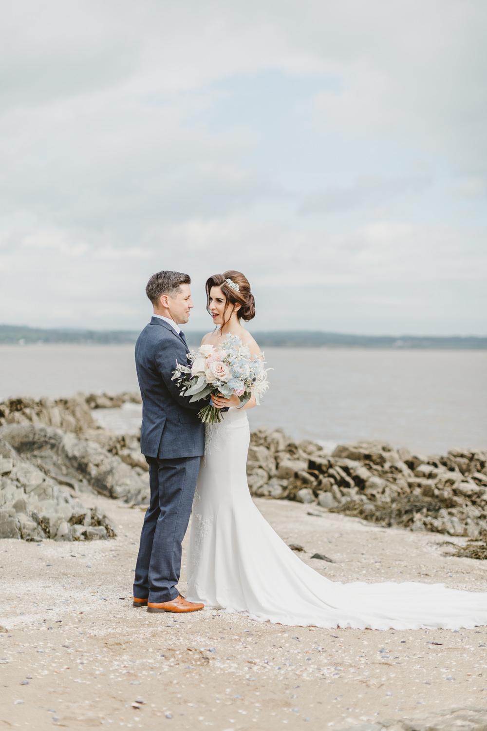 Bardot Sleeve Off Shoulder Dress Bride Bridal Gown Lace Sweetheart Fit Flare GG's Yard Wedding Amy Lou Photography