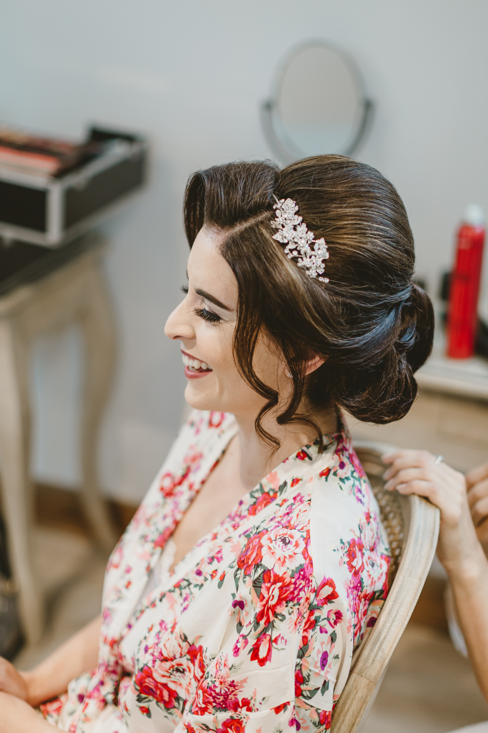 Hair Bride Bridal Up Do Style Accessory GG's Yard Wedding Amy Lou Photography