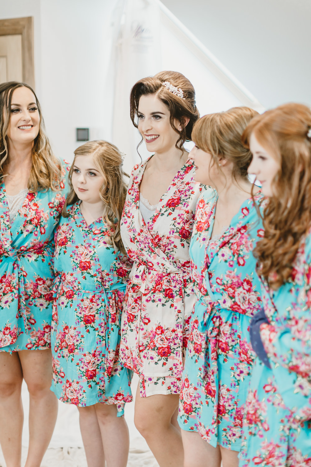 Floral Robes Dressing Gowns Bride Bridal Bridesmaids Prep GG's Yard Wedding Amy Lou Photography