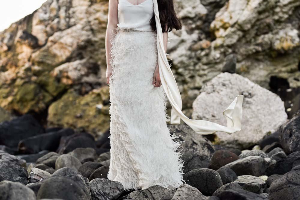 Dress Gown Bride Bridal Eliza Jane Howell Ruffle Belt Skirt Scarf Train Game Of Thrones Wedding Tara Florence