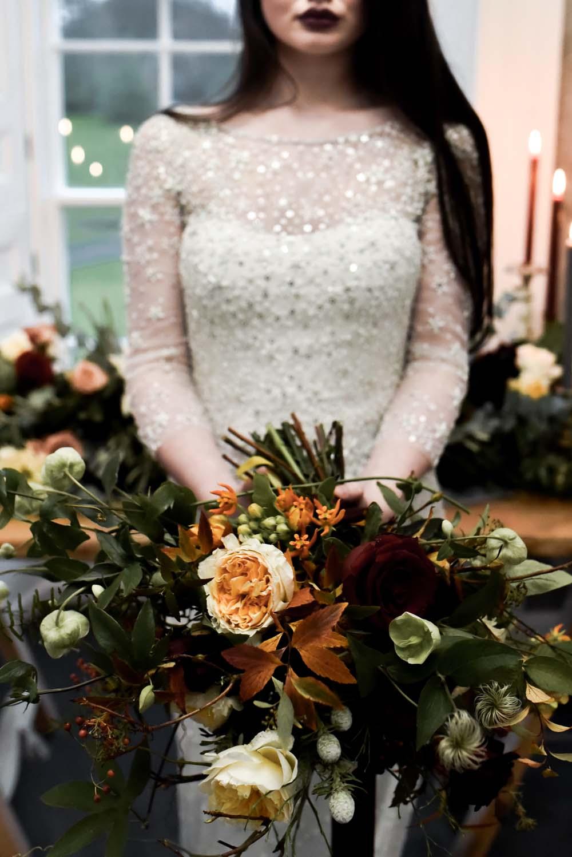 Bouquet Bride Bridal Flowers Orange Greenery Foliage Rose Leaf Leaves Game Of Thrones Wedding Tara Florence
