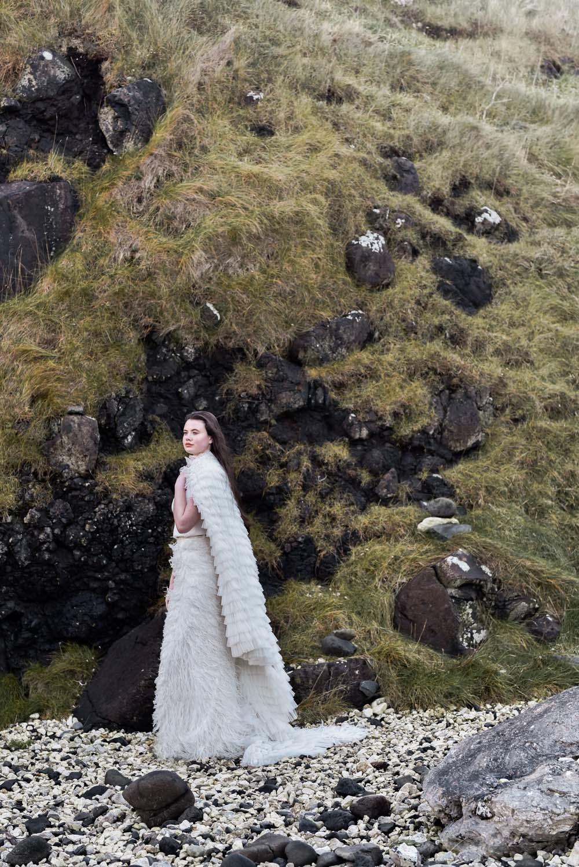 Dress Gown Bride Bridal Eliza Jane Howell Ruffle Belt Cape Train Game Of Thrones Wedding Tara Florence