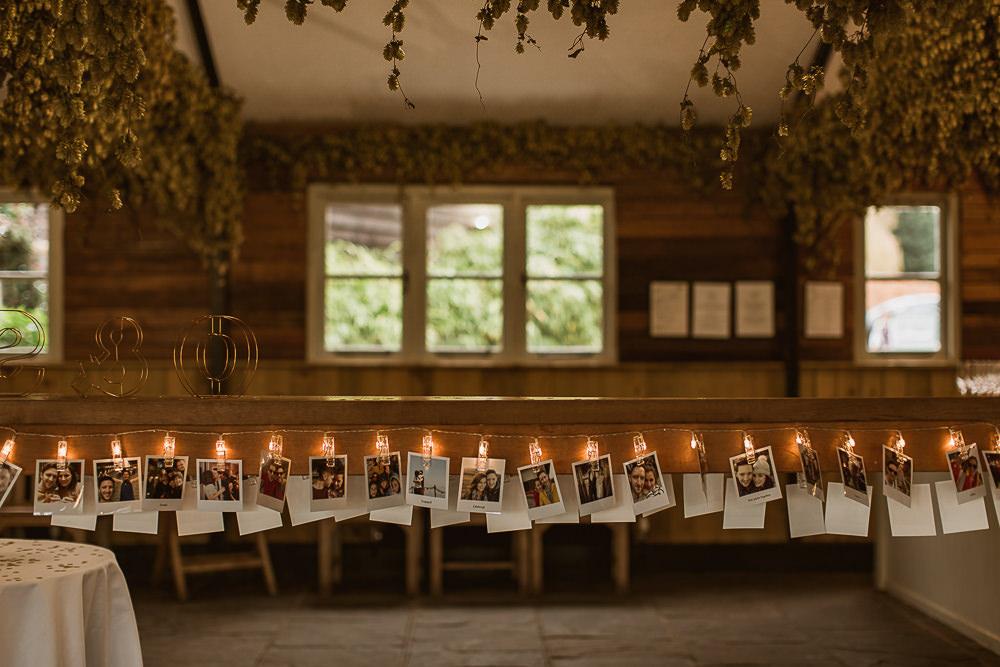 Polariod Photos Lights Lighting String Gate Street Barn Wedding The Springles