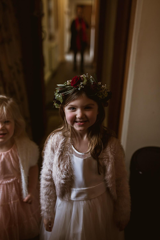 Flower Girl Flower Crown Gate Street Barn Wedding The Springles