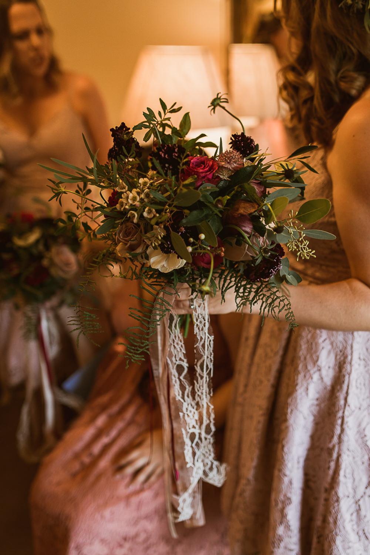 Bouquet Flowers Bride Bridal Foliage Greenery Rose Anemone Ribbons Gate Street Barn Wedding The Springles