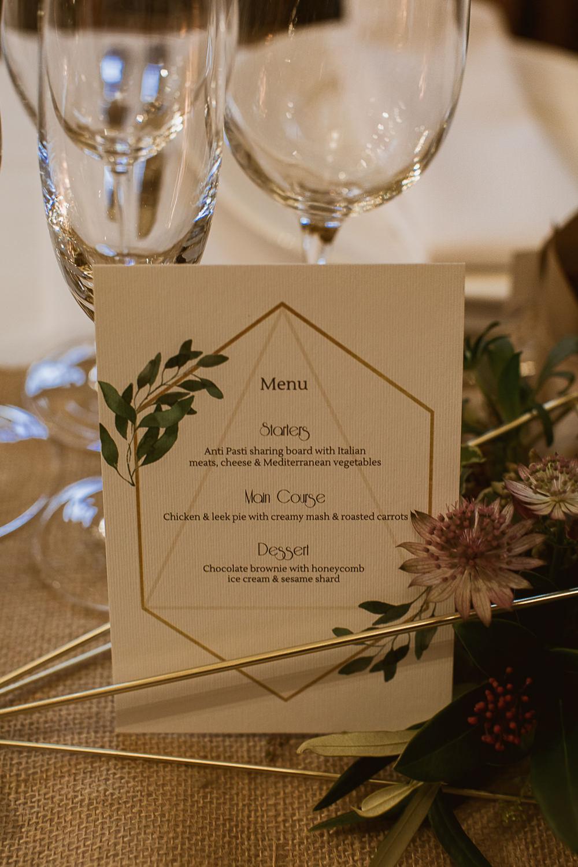 Geometric Stationery Botanical Table Gate Street Barn Wedding The Springles