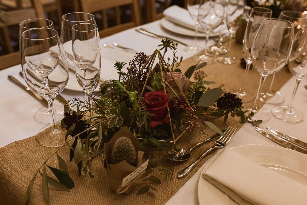 Terrarium Centrepiece Table Decor Flowers Gate Street Barn Wedding The Springles