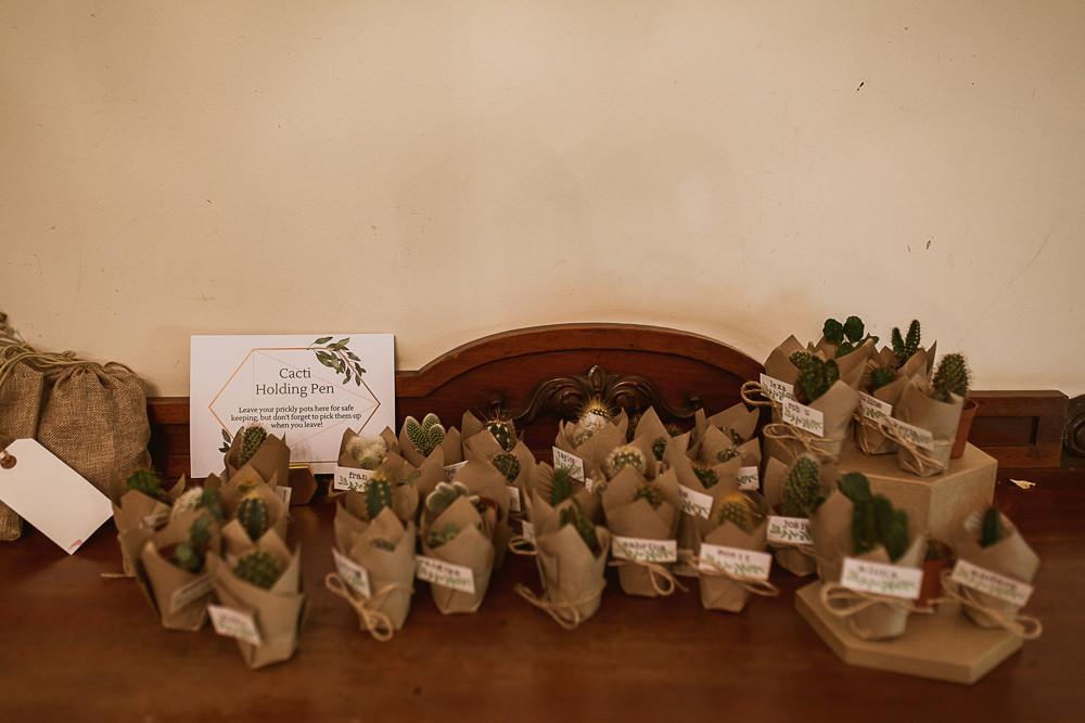 Succulent Cactus Favours Gate Street Barn Wedding The Springles