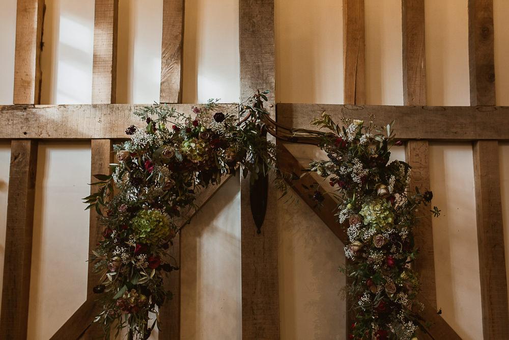 Arch Flower Floral Backdrop Ceremony Aisle Greenery Foliage Gate Street Barn Wedding The Springles