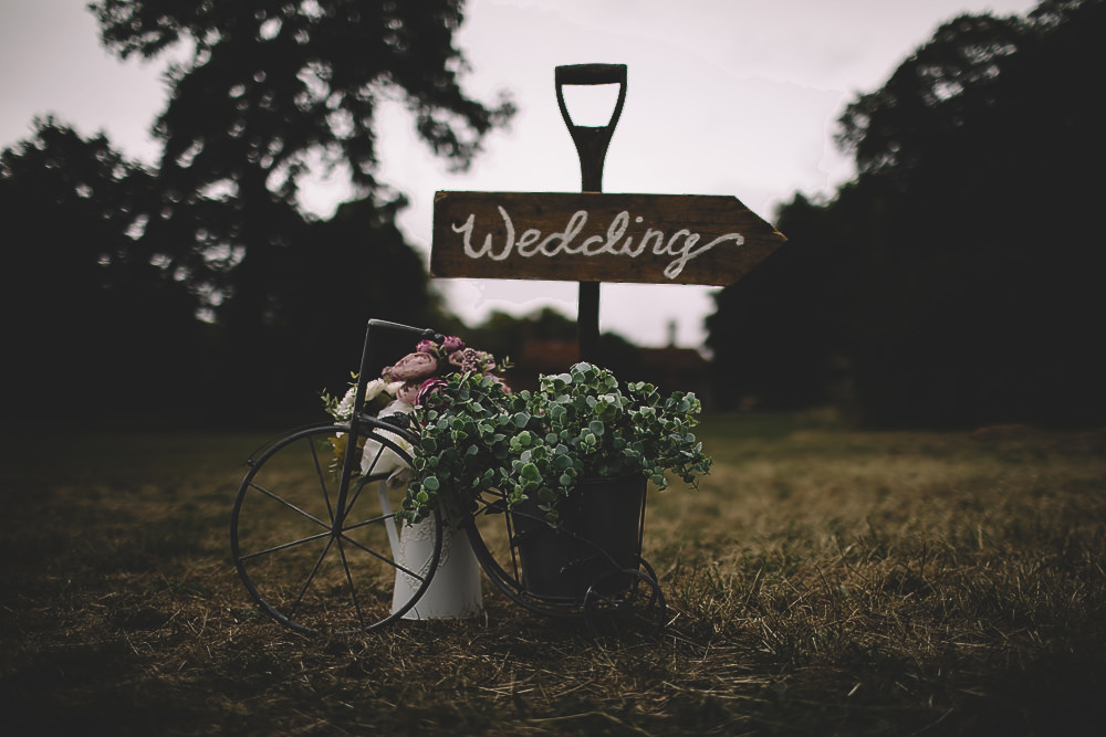 Spade Wooden Painted Sign Signage Gilbert Whites House Barn Wedding Carrie Lavers Photography