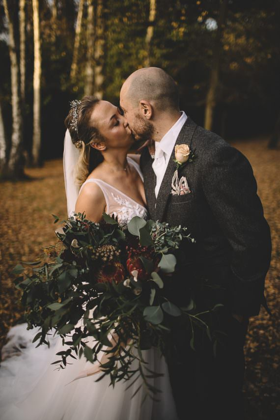 Greenery Foliage Bouquet Flowers Bride Bridal Protea Hampton Manor Wedding Carrie Lavers Photography