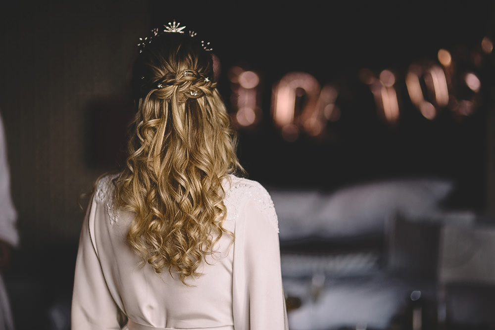 Hair Bride Bridal Long Waves Plait Braid Hampton Manor Wedding Carrie Lavers Photography