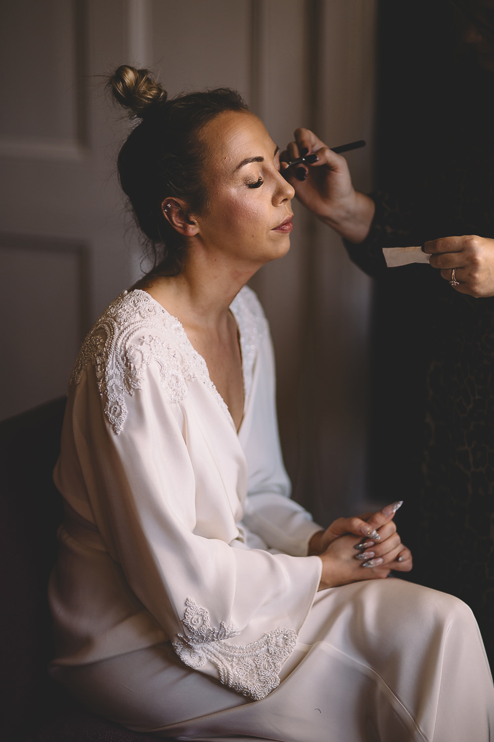Bride Bridal Make Up Hampton Manor Wedding Carrie Lavers Photography