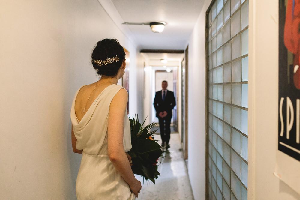 Bride Bridal Hair Vine Cowl Back Clapton Country Club Wedding Kate Jackson Photography