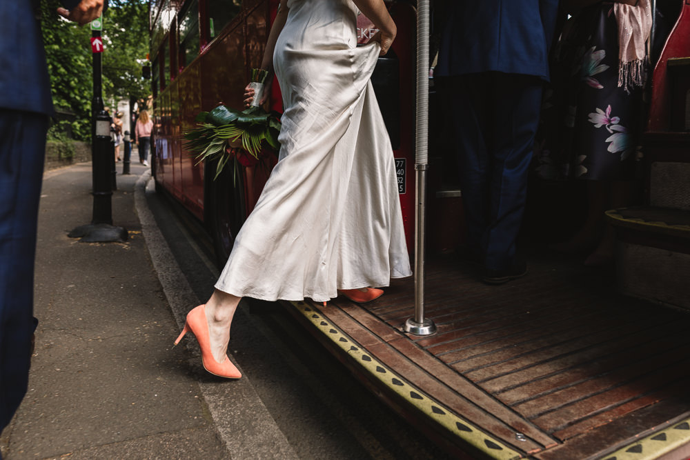 Bride Bridal Peach Coral Shoes Clapton Country Club Wedding Kate Jackson Photography
