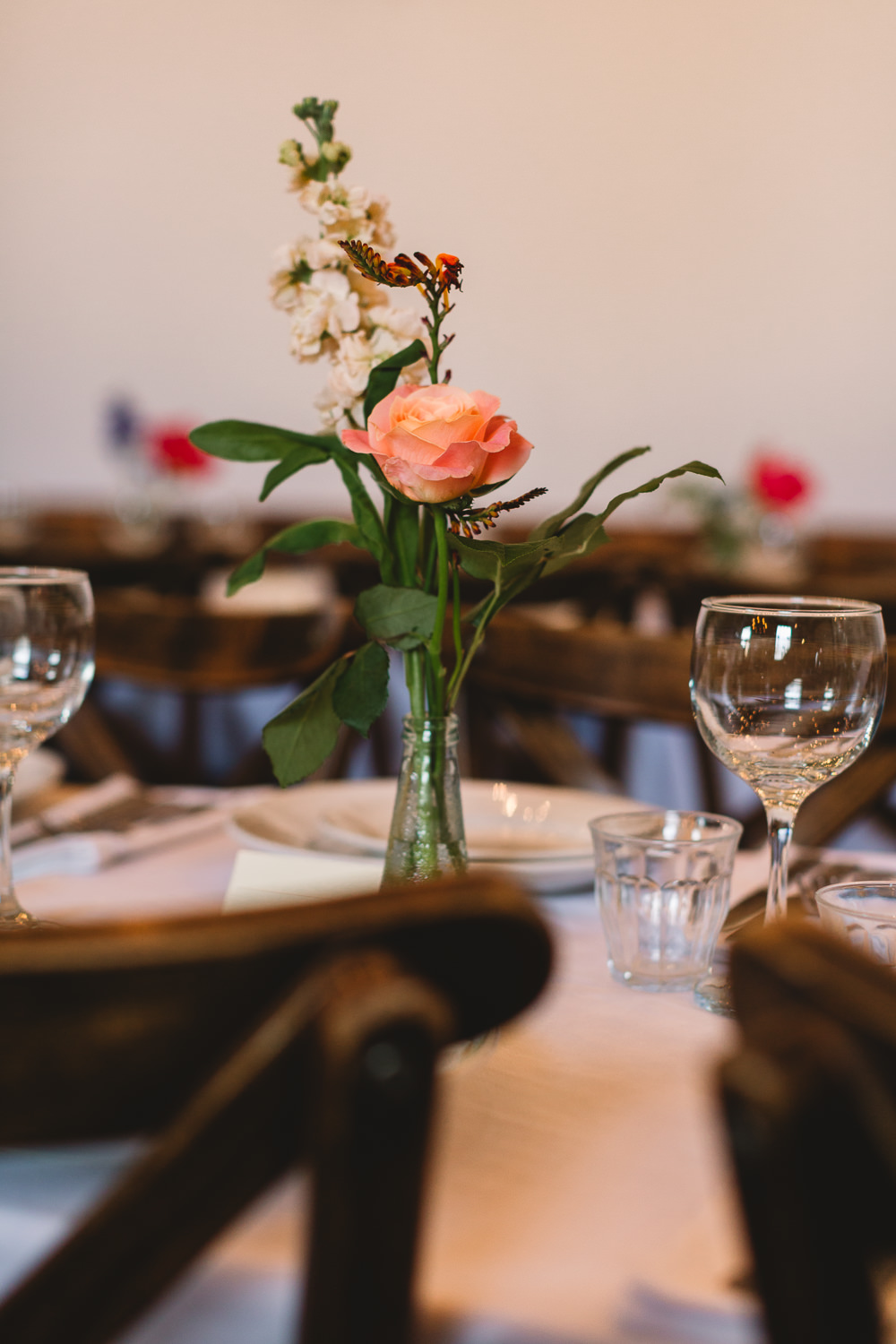 Bottle Bud Vase Floral Flowers Clapton Country Club Wedding Kate Jackson Photography