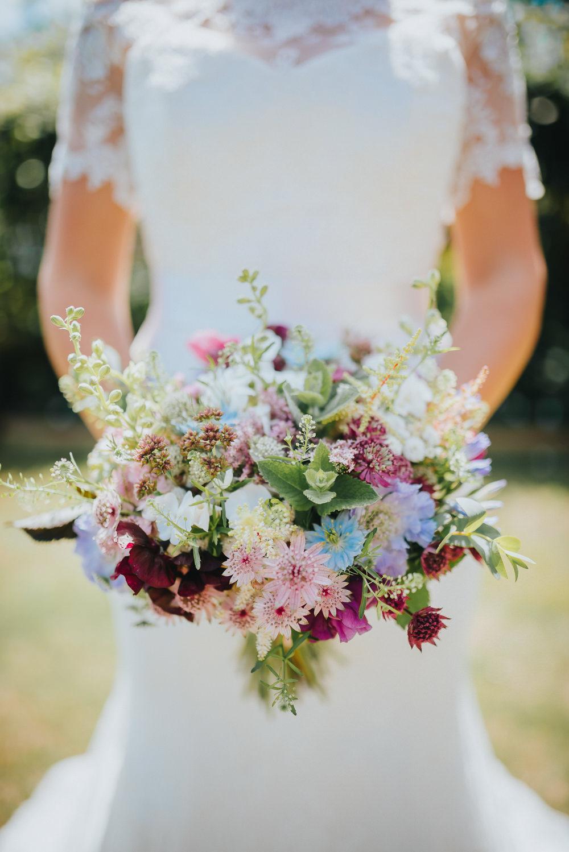 Bride Bridal Bouquet Wildflower Meadow Flowers Kittisford Barton Wedding Joab Smith Photography