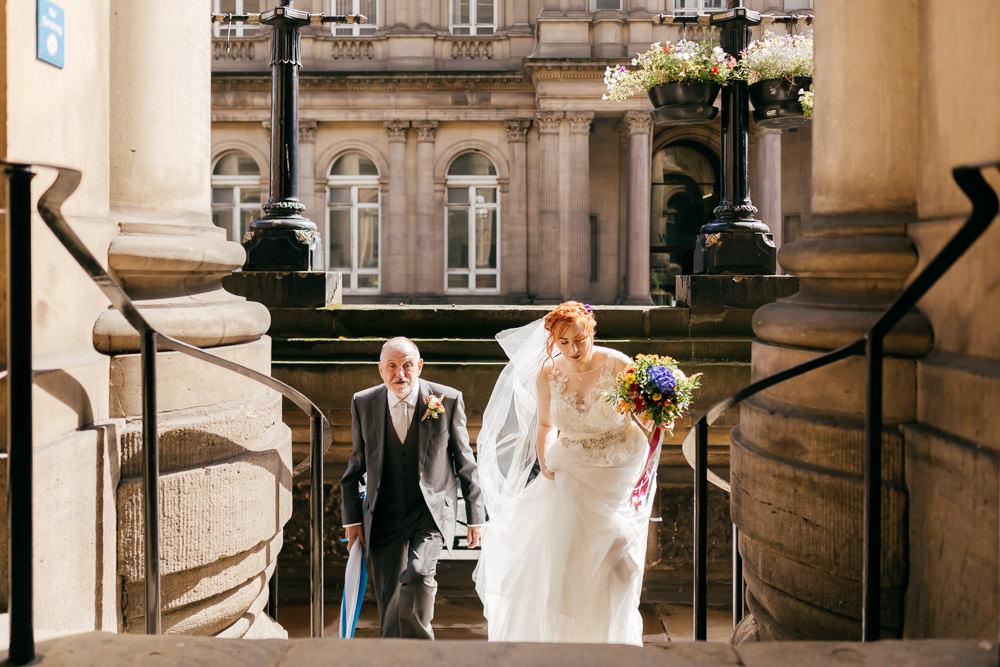 Bride Bridal Sweetheart Overlay Dress Veil Left Bank Leeds Wedding Amber Marie Photography