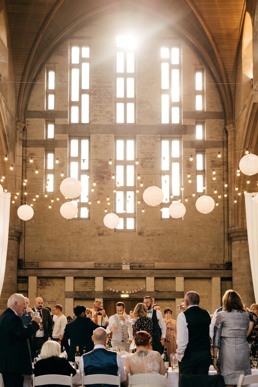 Festoon Lighting Paper Lanterns Left Bank Leeds Wedding Amber Marie Photography